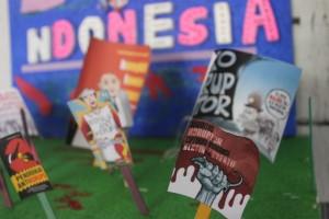 Salah satu karya siswa dalam memperingati hari anti korupsi.