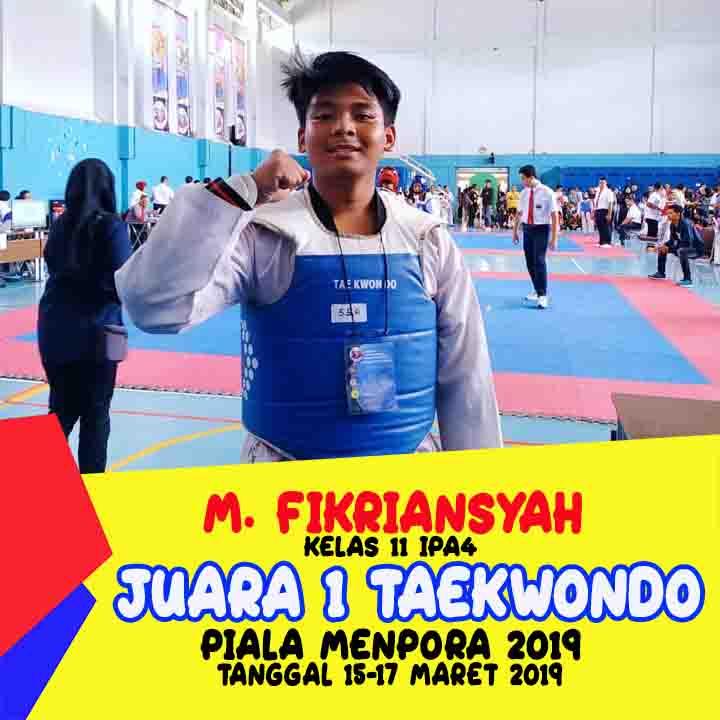 M. Fikriansyah Juara 1 Taekwondo