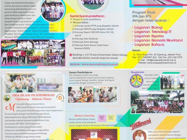 PPDB SMA ISLAM PB SOEDIRMAN CIJANTUNG JAKARTA TIMUR TAHUN PELAJARAN 2019/2020