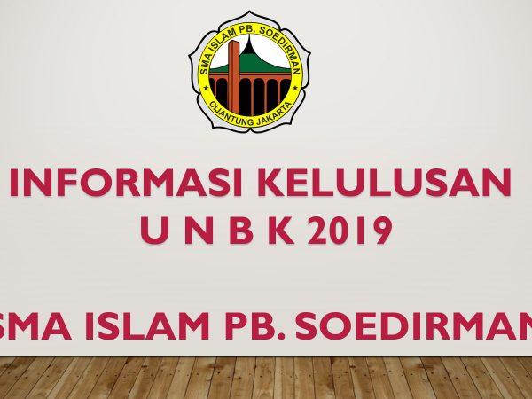 Informasi kelulusan UNBK 2019
